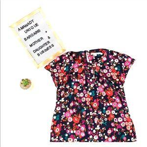 💐 Borden floral colorful short sleeve blouse 💐